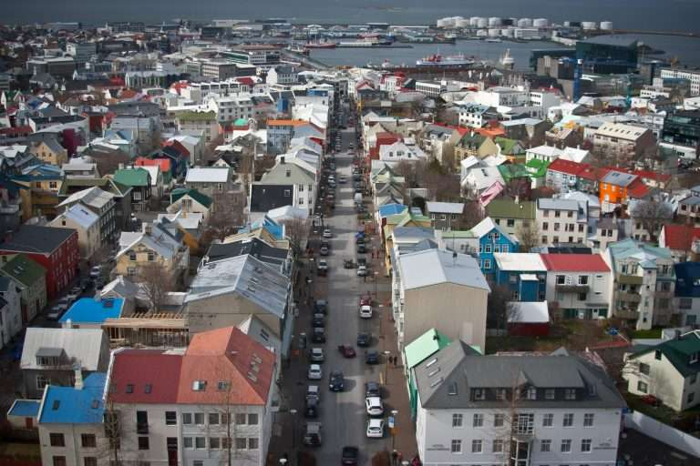 View from Hallgrímskirkja in Reykjavik