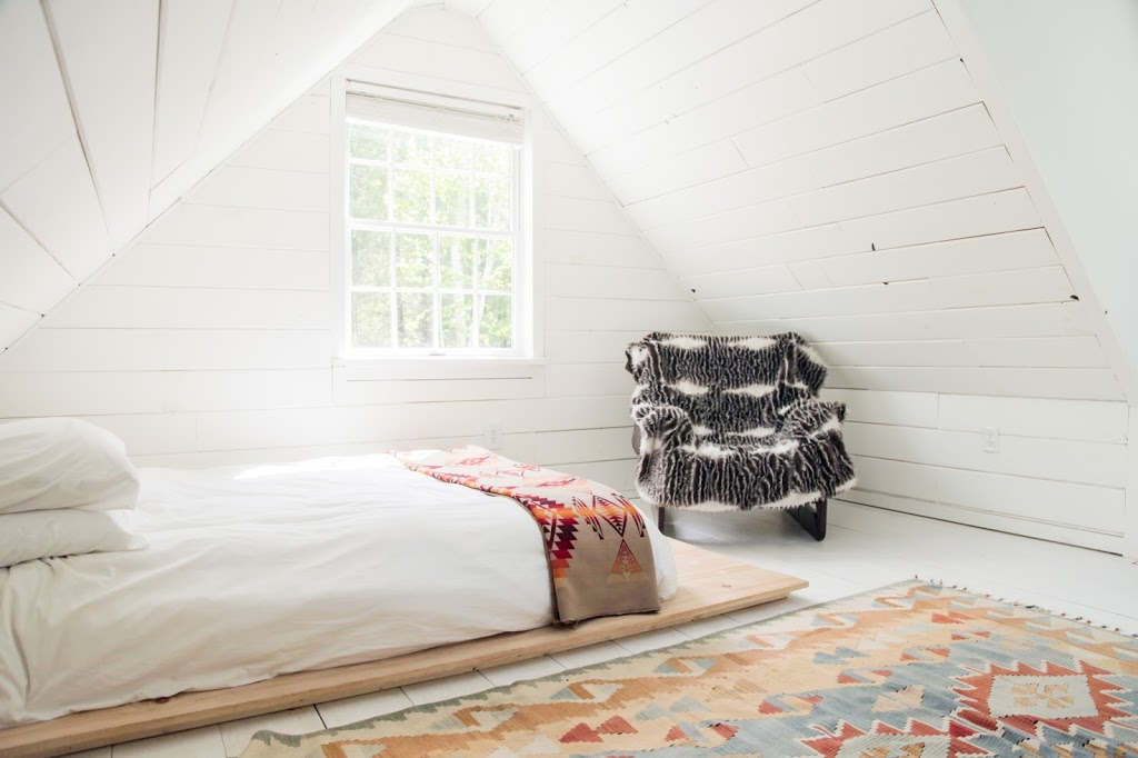 Catskills Cabin Bedroom with Pendleton Throw
