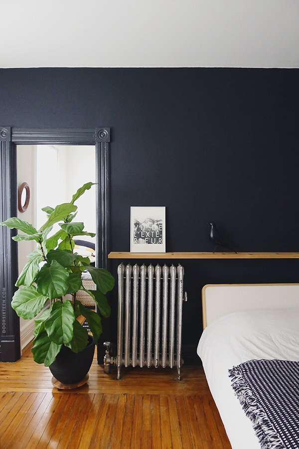 bedroom walls in benjamin moore soot black paint