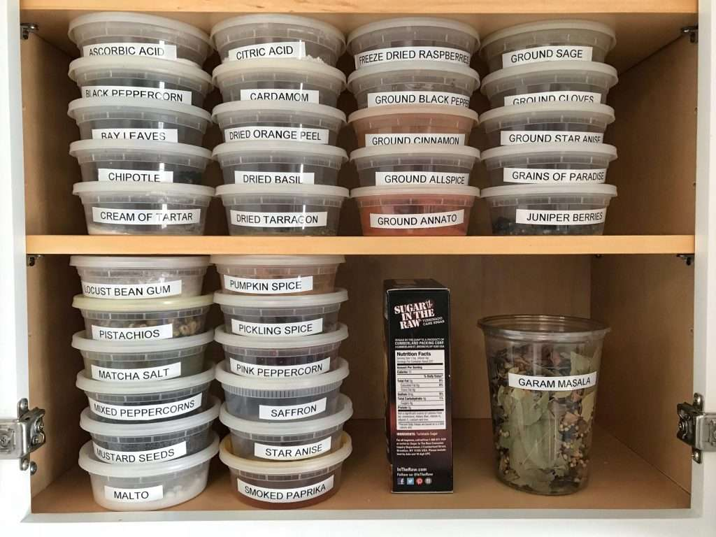 spices sorted in alphabetical order