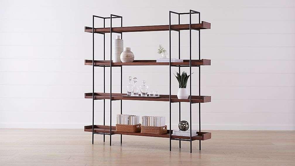minimal industrial bookshelf