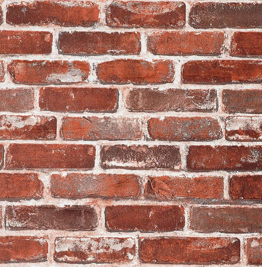red brick peel and stick wallpaper