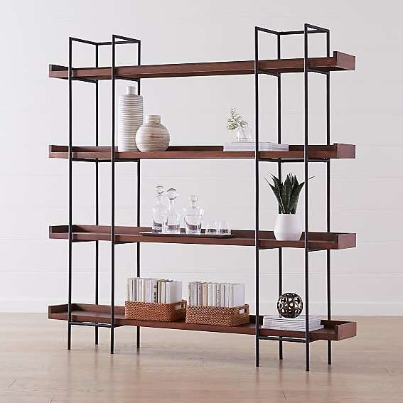 modern industrial pipe shelving
