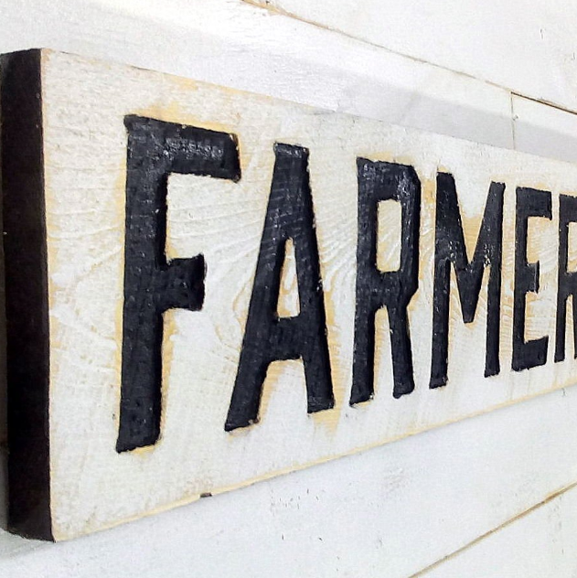 vintage farmers market sign