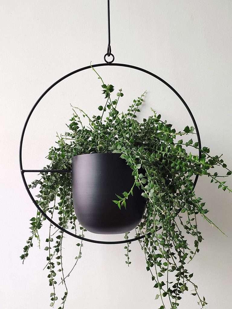 modern metal hanging planter