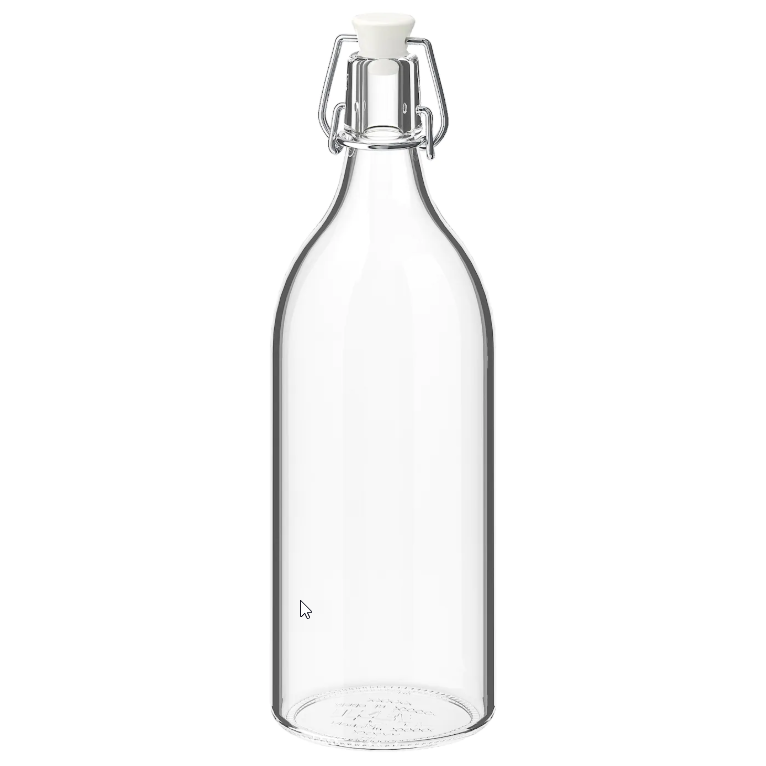 ikea glass bottle