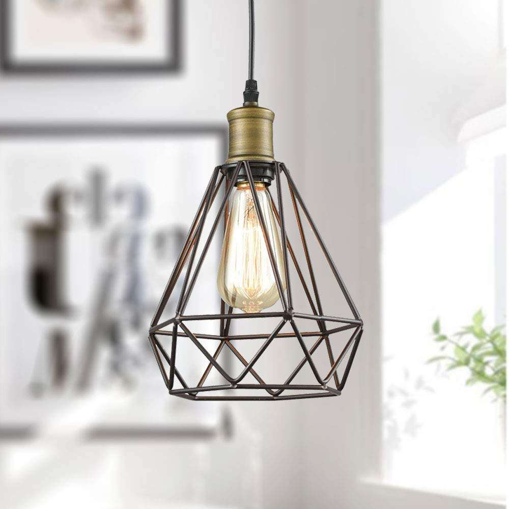 caged pendant light