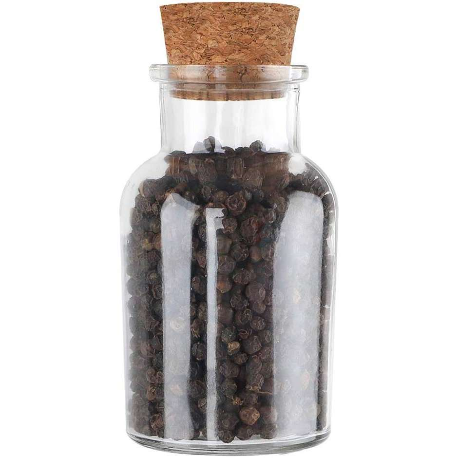 glass and cork spice jar