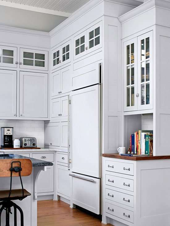 white kitchen with cabinets