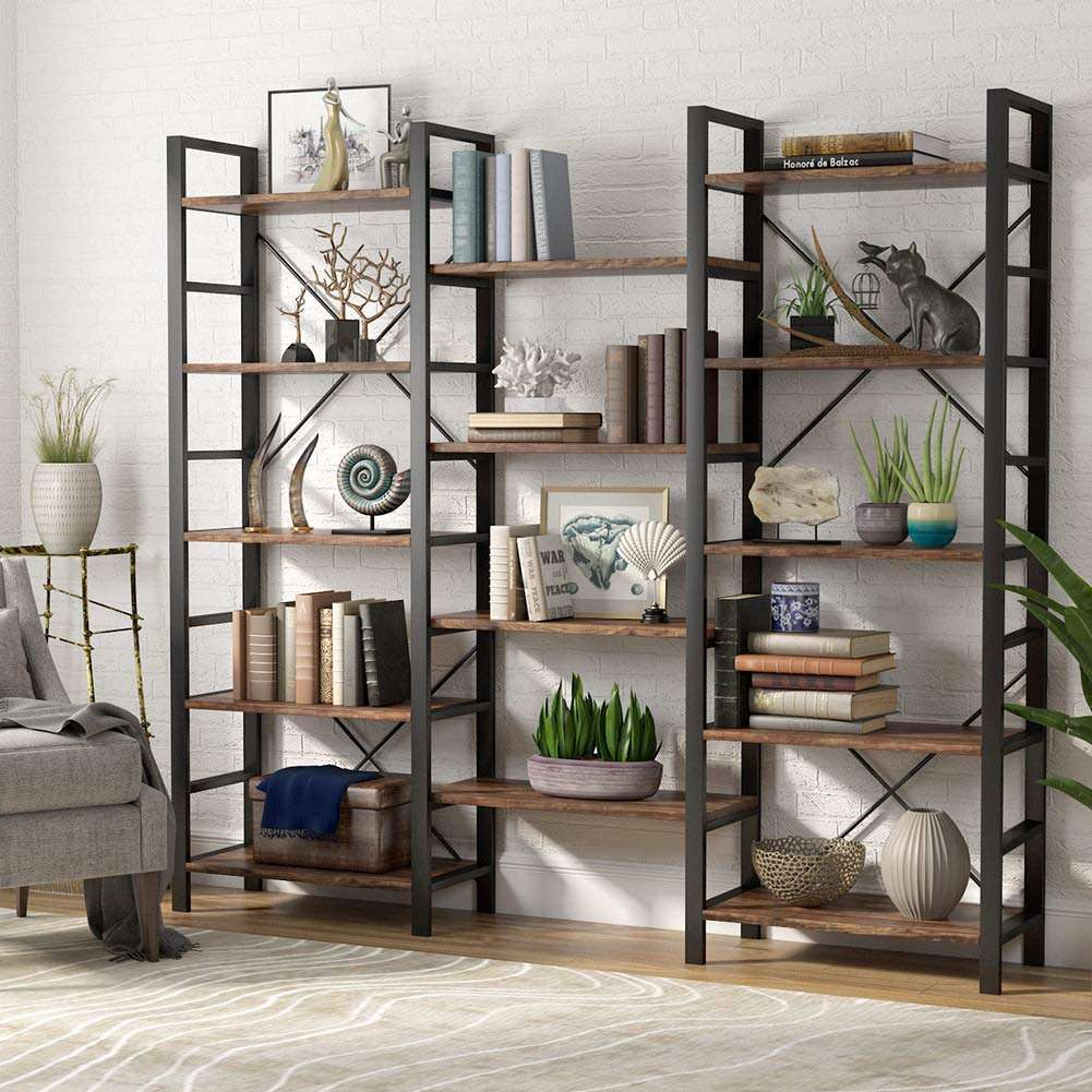 triple wide industrial bookshelf