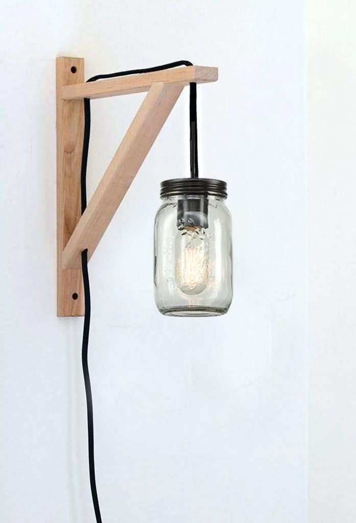 mason jar plug-in pendant light