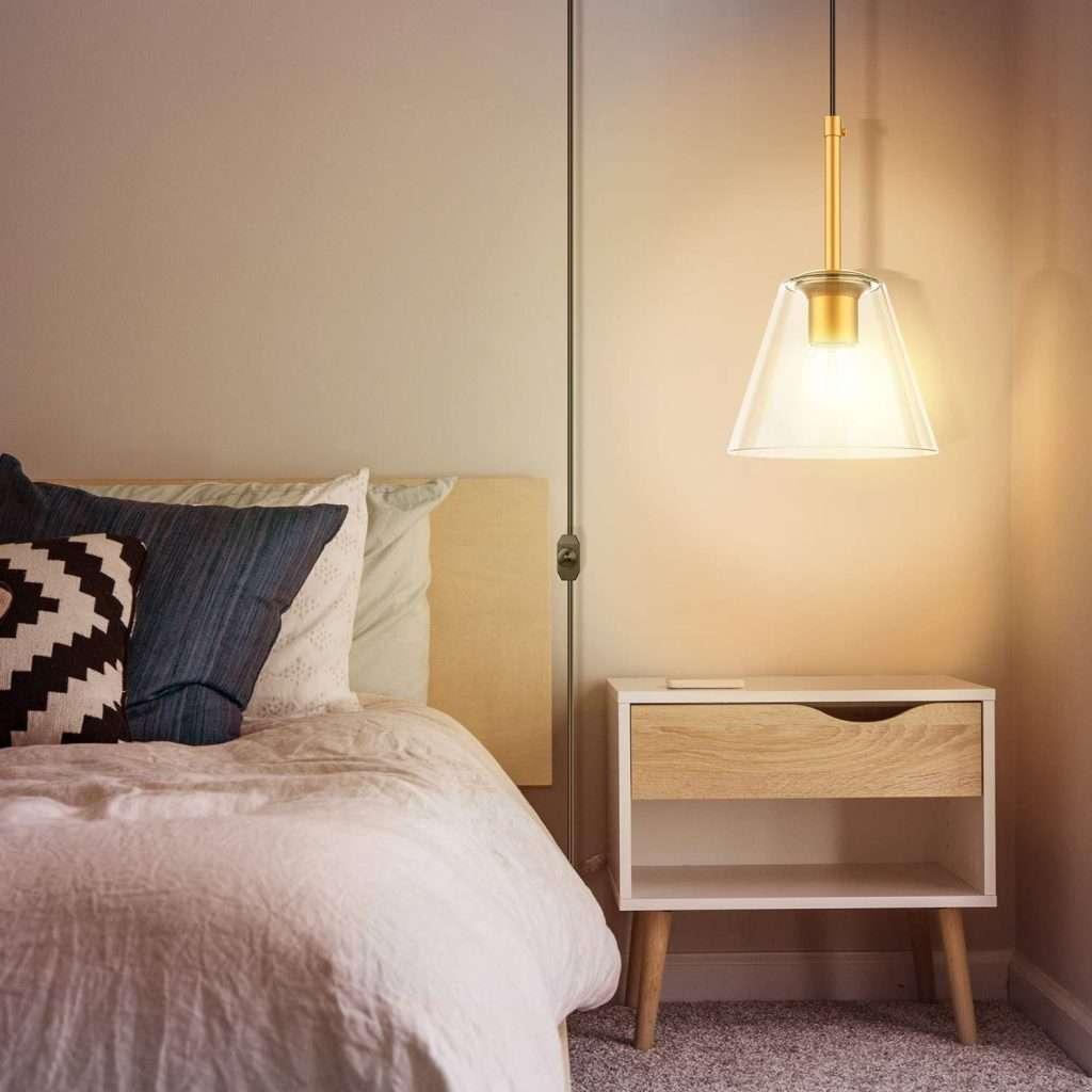 glass plug-in pendant light