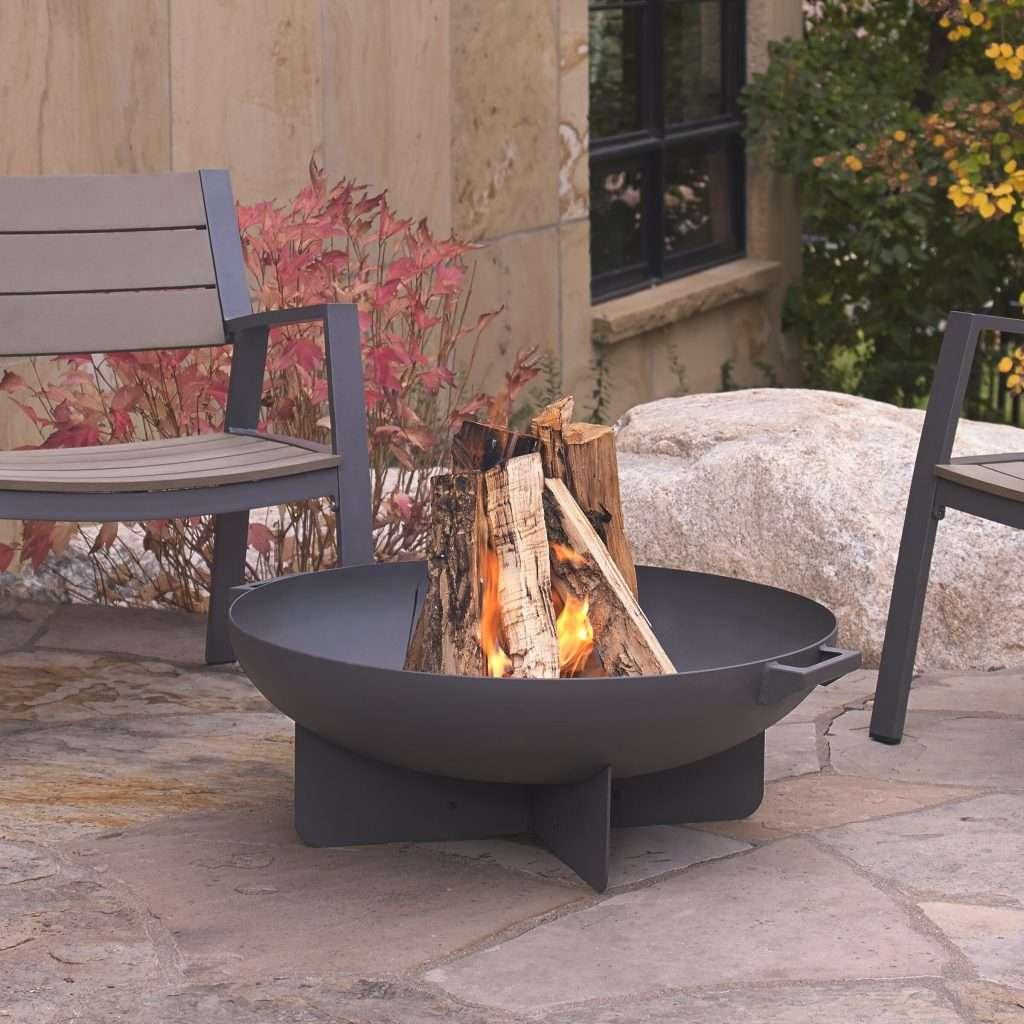 minimalist woodburning firepit