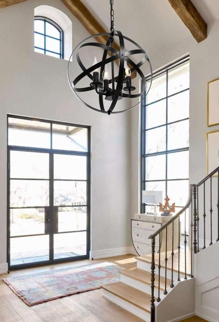 farmhouse 4-light plug-in chandelier