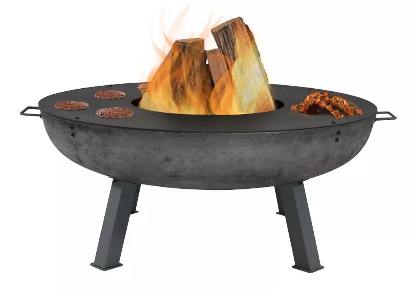 cast iron wood burning firepit