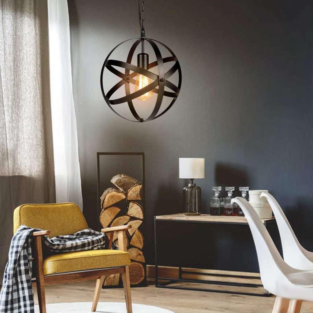 rustic ringed plug-in pendant light