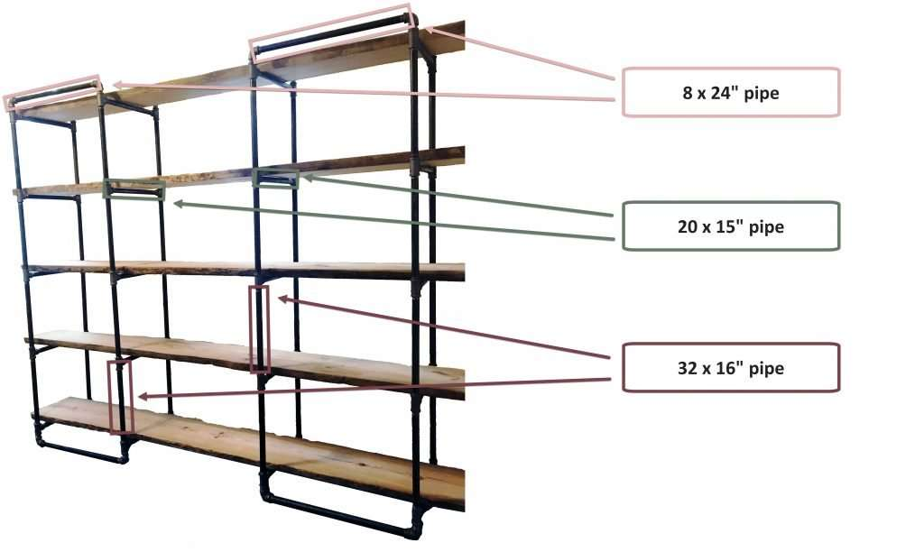 how to assemble industrial gas pipe shelving unit