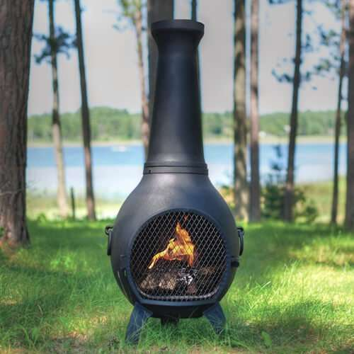 traditional cast aluminum chiminea
