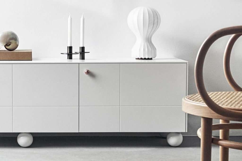 Ikea Besta with modern ball legs