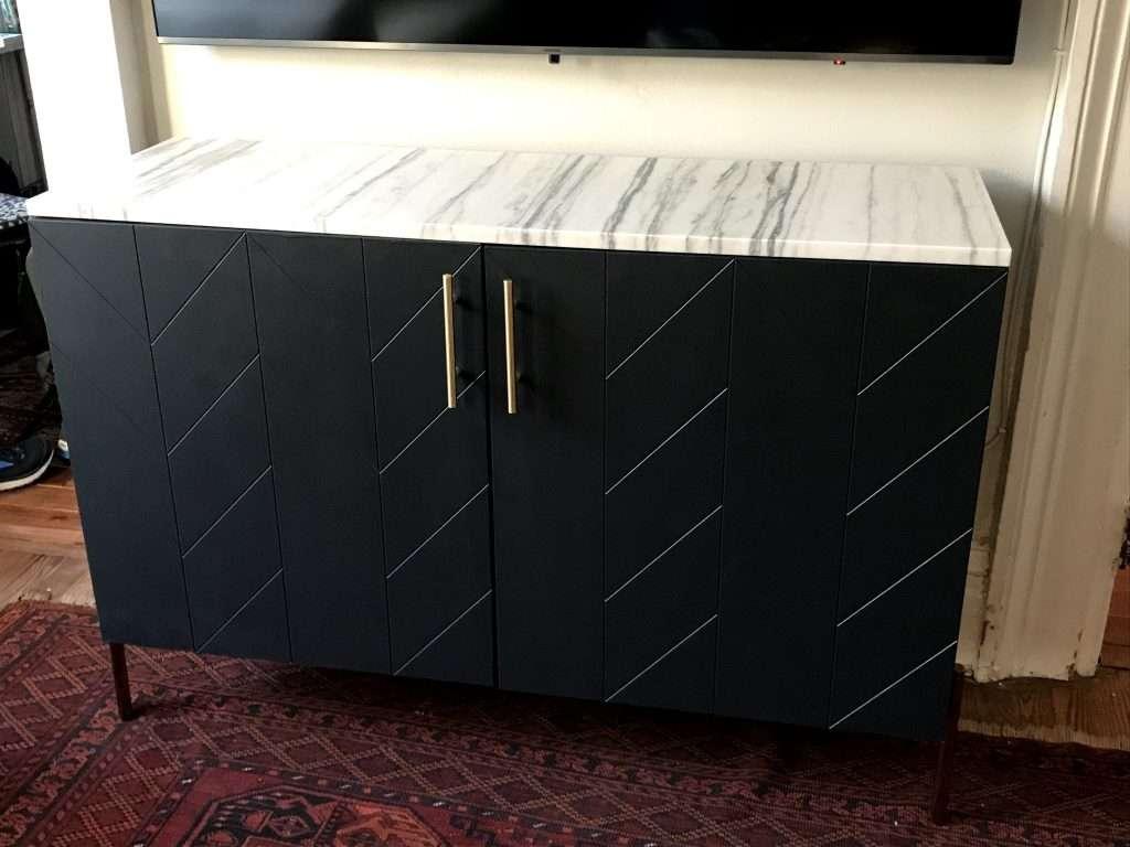 Ikea Besta with custom marble top