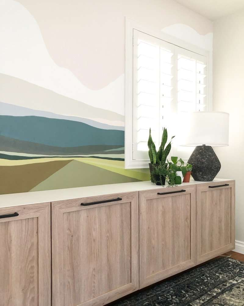 Ikea Besta cabinet with custom fronts