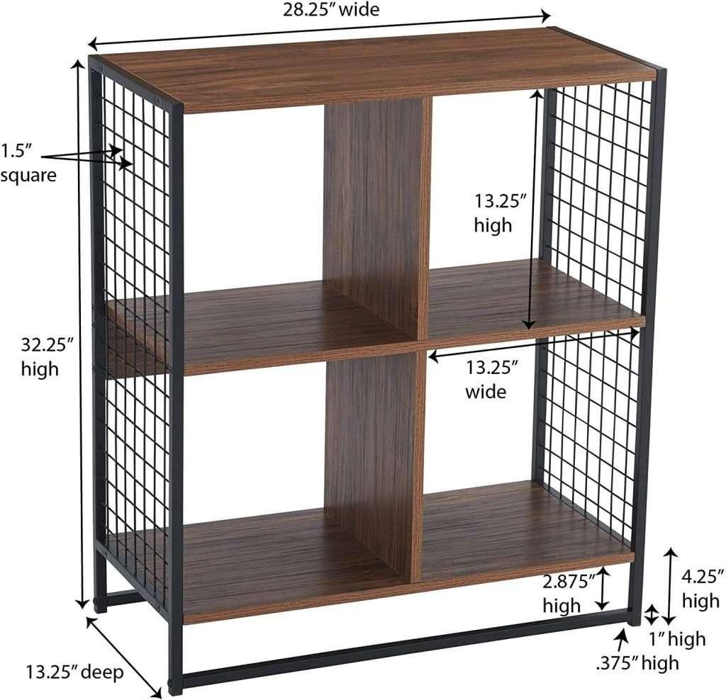 Vinyl record organizer shelf