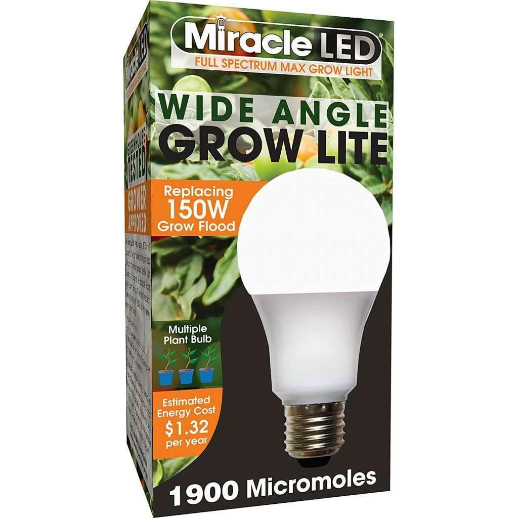 E26 wide angle grow light bulb
